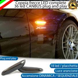 Placchette Dinamiche Laterali nere a 18 led per frecce specifiche per BMW X1 E84
