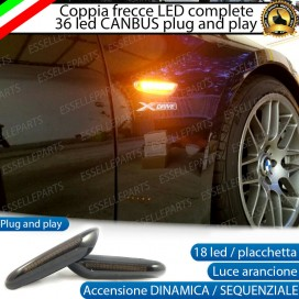 Placchette Dinamiche Laterali nere a 18 led per frecce specifiche per BMW SERIE 3 E36 RESTYLING