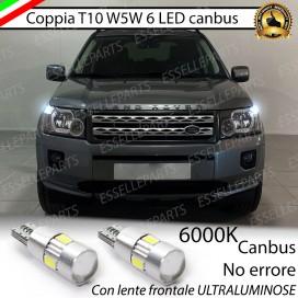 Luci posizione T10 W5W 6 LED Canbus Land Rover Freelander II