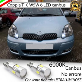 Luci posizione T10 W5W 6 LED Canbus Toyota Yaris 1