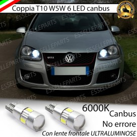 Luci posizione T10 W5W 6 LED Canbus Volkswagen Golf 5