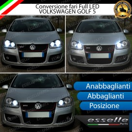Conversione Fari Full LED VW golf 5