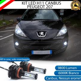 KitFull LEDFendinebbia H11 9800 LUMEN perPEUGEOT 207