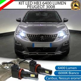 KitFull LED HB3 6400 LUMEN AbbagliantiPEUGEOT3008 II