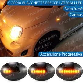 Placchette Dinamiche Laterali nere a 9 led per frecce specifiche per Fiat 500