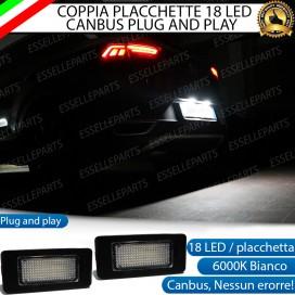 Placchette Complete da 18 LED per Luci targa specifiche per AUDI A6 C7