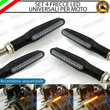 Coppia Frecce Universali Omologate Led Ovale CORTE Aprilia RS4 Shiver Tuono