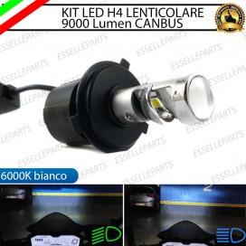Kit Full LED lampada singola H4 BI-LED con lente 6000k conversione fari lenticolari
