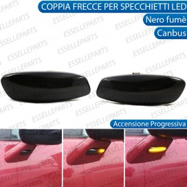 Placchette Dinamiche Laterali nere fumè led per frecce specchietti CITROEN C3 MK2