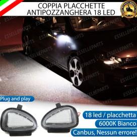 KIT PLACCHETTE LED CORTESIA SPECCHIETTI 6000K BIANCO CANBUS VW GOLF 6 VI