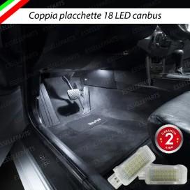 Placchette Vano Piedi 18 LED 6000K Bianco BMW Serie 1 E87 E88 E82 E81