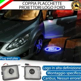 Coppia placchette antipozzanghera specchietti con logo per Ford kuga mk2