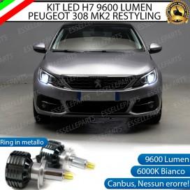 Kit Full LED H7 9600 LUMEN Anabbaglianti Peugeot 308 II