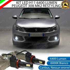 Kit Full LED Fendinebbia H11 6400 LUMEN PEUGEOT 308 II