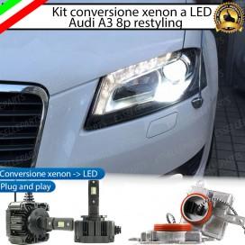 KIT LED D3S CONVERSIONE DA BIXENO A LED 12000 LUMEN 6000K AUDI A3 8P RESTYLING DAL 2009 +