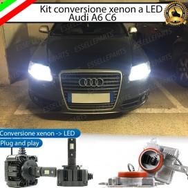 KIT LED D3S CONVERSIONE DA BIXENO A LED 12000 LUMEN 6000K AUDI A6 C6