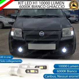 Kit Full LED Fendinebbia H1 10000 LUMEN FIAT PANDA II