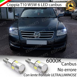 Luci posizione T10 W5W 6 LED Canbus Volkswagen Touareg (7L)