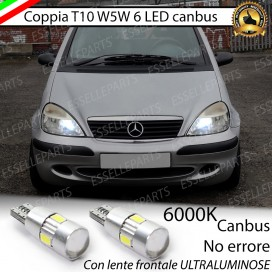 Luci posizione T10 W5W 6 LED Canbus Mercedes Classe A (W168)