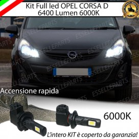 KitFull LED H1 Abbaglianti 6400 LUMEN OPEL CORSA D