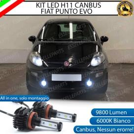 KitFull LEDFendinebbia H11 9800 LUMEN perFIATPUNTO EVO