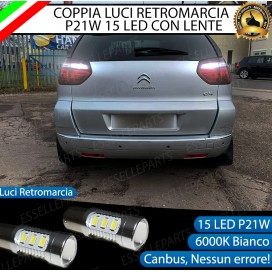 Luci Retromarcia 15 LED Citroen C4 Picasso CON LENTE FRONTALE