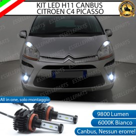 Kit Full LED Fendinebbia H11 9800 LUMEN per CITROEN C4 PICASSO