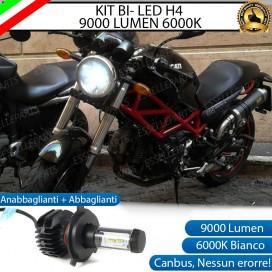 Kit Full LED Lampada H4 9000 LUMEN Anabbagliante Abbagliante DUCATI Monster 620 / 695