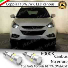 Luci posizione T10 W5W 6 LED Canbus Hyundai IX35