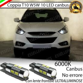 Luci posizione T10 W5W 10 LED Canbus Hyundai IX35