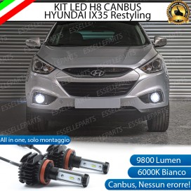 Kit Full LED H8 9800 LUMEN Fendinebbia per HYUNDAI IX35 RESTYLING