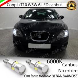 Luci posizione T10 W5W 6 LED Canbus Seat Altea