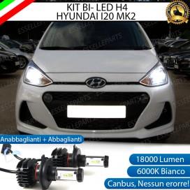 Kit Full LED H4 18000 LUMEN Anabbaglianti/Abbaglianti HYUNDAI I10 II