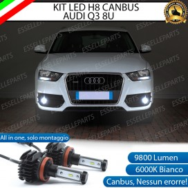 Kit Full LED H8 9800 LUMEN Fendinebbia per AUDI Q3 RESTYLING