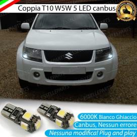 Luci posizione T10 W5W 5 LED Canbus Suzuki Gran Vitara II