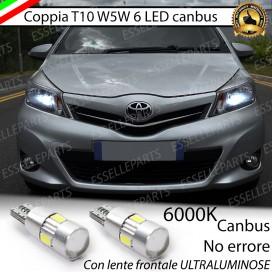 Luci posizione 6 LED Canbus 400 Lumen TOYOTA YARIS III