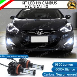Kit Full LED H8 9800 LUMEN Fendinebbia per HYUNDAI I40
