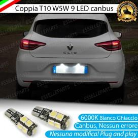 Luci Targa 9 LED Canbus 6000K per RENAULT CLIO 5