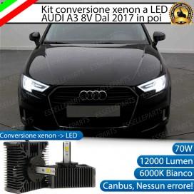 KIT LED D5S CONVERSIONE DA BIXENO A LED 12000 LUMEN 6000K AUDI A3 8V