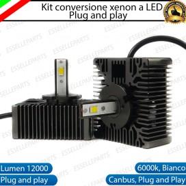 KIT LED D5S CONVERSIONE DA BIXENO A LED 12000 LUMEN 6000K