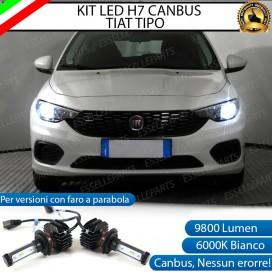 Kit Full LED H7 9800 LUMEN Anabbaglianti FIAT TIPO