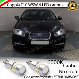 Luci posizione T10 W5W 6 LED Canbus Jaguar XF