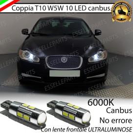 Luci posizione T10 W5W 10 LED Canbus JAGUAR XF