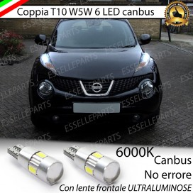 Luci posizione T10 W5W 6 LED Canbus Nissan Juke