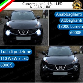 Conversione Fari Full LED NISSAN JUKE PRE-RESTYLING