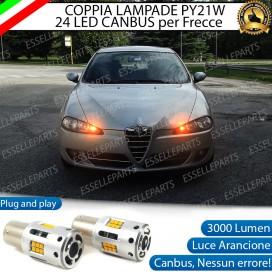 Coppia Frecce Anteriori PY21W 24 LED Canbus 3.0 per ALFA ROMEO 147 RESTYLING