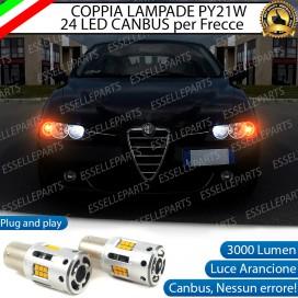 Coppia Frecce Anteriori PY21W 24 LED Canbus 3.0 per ALFA ROMEO 156