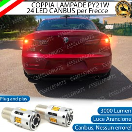 Coppia Frecce Posteriori PY21W 24 LED Canbus 3.0 per ALFA ROMEO 159