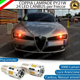 Coppia Frecce Anteriori PY21W 24 LED Canbus 3.0 per ALFA ROMEO BRERA