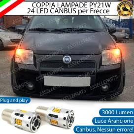 Coppia Frecce Anteriori PY21W 24 LED Canbus 3.0 per FIAT PANDA II